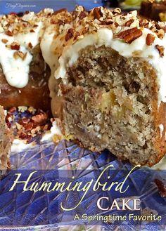 Hummingbird Cake Recipe -A Springtime Favorite!