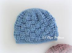 Crochet Preemie Hats, Crochet Baby Hats Free Pattern, Crochet Baby Blanket Beginner, Crochet Baby Booties, Easy Crochet Patterns, Knitted Hats, Hat Crochet, Preemie Babies, Premature Baby