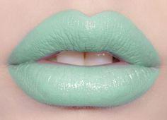 pastel green lipstick