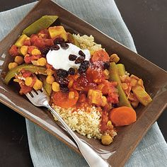 Curried Vegetables on Couscous - 105 Favorite Slow-Cooker Recipes - Cooking Light
