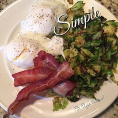 ⭐️I eat tons of eggs  these days...and really just keep it simple...having pre chopped up veggies help and a protein so I can keep my metabolism up with out stressing about cooking. ⭐️ I may or may not have cooked my shredded Brussels in my uncured bacon fat...  It's he best way!  and honestly...not all baco https://www.facebook.com/TeamJERF