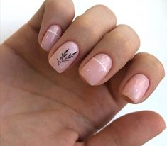 Simple And Elegant Acrylic Short Nails For Spring And Summer - Page 5 of 7 - Vida Joven Cute Nails, Pretty Nails, Light Pink Nails, Classic Nails, Modern Nails, Girls Nails, Oval Nails, Minimalist Nails, Rainbow Nails