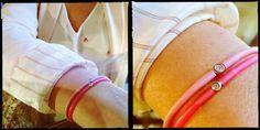 La vie en rose  Bracelet version deluxe avec diamant 0,08 carat. Get your look ! It's Not My First Diamond ➡ http://bit.ly/1ZCBi5D #bracelet #diamond #diamant #myfirstdiamond #coloryourlife