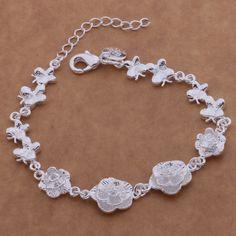 SL-AH021 Wholesale silver plating bracelet, 925 stamped silver fashion jewelry Dragonfly flowers /bcjajtqa abiaispa♦️ B E S T Online Marketplace - SaleVenue ♦️👉🏿 http://www.salevenue.co.uk/products/sl-ah021-wholesale-silver-plating-bracelet-925-stamped-silver-fashion-jewelry-dragonfly-flowers-bcjajtqa-abiaispa/ US $2.03