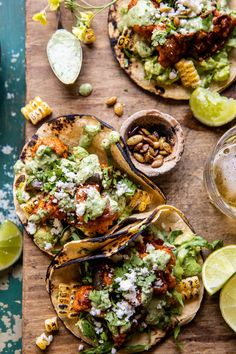 Chipotle Cauliflower Tacos with Creamy Jalapeño Verde: spicy vegetarian cauliflower tacos...30 mins, 1 skillet, simple, healthy, & delicious! Veggie Recipes, Mexican Food Recipes, Vegetarian Recipes, Cooking Recipes, Healthy Recipes, Veggie Meals, Veggie Tacos, Vegetarian Options, Mexican Dishes