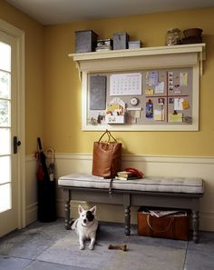 Could do something like this in the kitchen and put cookbooks on top. Good place to display artwork and decorate for holidays.