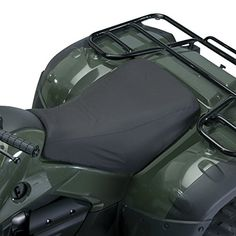 Classic Accessories 15-118-010401-00 QuadGear Black ATV Seat Cover  Classic Accessories 15-118-010401-00 QuadGear Black ATV Seat Cover This product includes these features: Universal size fits most ATVs, 1 year manufacturer's warranty, Black, Protects ATV seat from rain and dirt.  http://www.newmotorcyclestore.com/classic-accessories-15-118-010401-00-quadgear-black-atv-seat-cover/