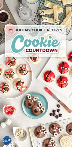 29 Holiday Cookie Recipes you have to see to believe! Find the cutest cookie recipes every day leading up to Christmas. Spread holiday cheer with sugar, spice and cookies galore! Perfect for if you are hosting a cookie swap, exchange or party. Holiday Cookie Recipes, Holiday Desserts, Holiday Baking, Holiday Treats, Christmas Recipes, Christmas Foods, Christmas Cookie Exchange, Christmas Sweets, Christmas Cooking