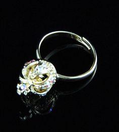 Anel coroa strass dourado La Ditta www.laditta.com.br