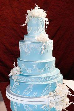 Blue Wedding Cake  - Bamboo Bakery blue