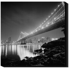 Global Gallery Manhattan Bridge by Night by Philippe Levy-Stab Framed Photographic Print Size: Great Photos, Cool Pictures, Manhattan Bridge, Urban Landscape, Abu Dhabi, Vacation Spots, Places To Travel, Landscape Photography, Beautiful Places