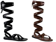 30bb8553bf0612 Knee-High Gladiator Boots - for Men Roman Sandals