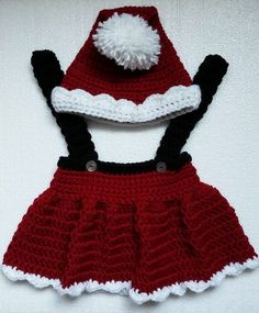 Santa Skirt and Hat for baby girl