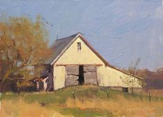 Milk Barn by Marc Hanson Watercolor Barns, American Barn, Landscape Paintings, Barn Paintings, Landscapes, Old Cabins, Building Art, House Paint Exterior, House Painting