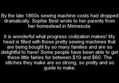 Sewing machines in history