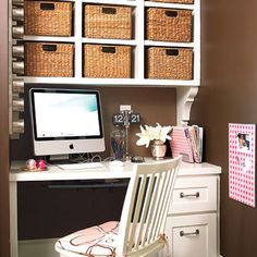 From wicker to brightly-colored fabrics, choosing the right storage bins for open shelving can add to the look of your space. |  thisoldhouse.com