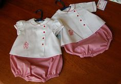 The Old Fashioned Baby Sewing Room: Redwork Embroidey on Old Fashioned Baby Clothes!