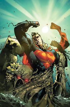 Jorge Jimenez - Superman vs Swamp Thing