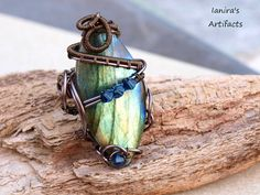 OOAK Labradorite wire wrapped ring by Ianira on Etsy