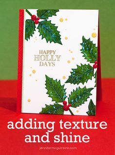 Video: Adding Texture & Shine… + Hero Arts Discount Code + Giveaway! | Jennifer McGuire Ink
