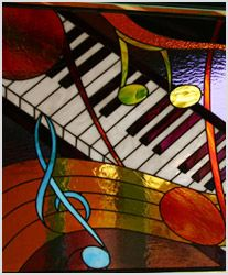 Jazz piano--I have a friend who would absolutely love this stained glass. Dr. Dave J--maybe for Christmas.