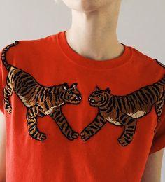 Broderie tigre