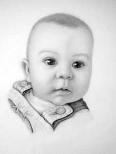 Larger photo of leon. drawn using various grades of graphite Easy Drawings, Artwork Drawings, Drawing Art, Pencil Art, Pencil Drawings, Baby Portraits, Baby Art, Large Photos, People Art