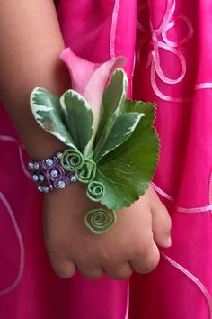 Cute Corsage For The Little Girls In The Wedding Party