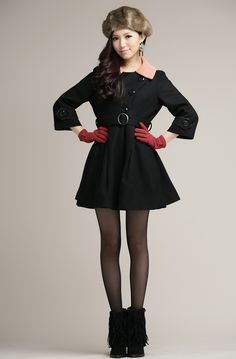 Winter Fashion Single-Breasted Woolen Coat
