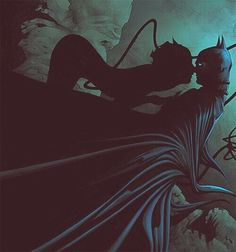 Batman and Catwoman I love the lighting in this