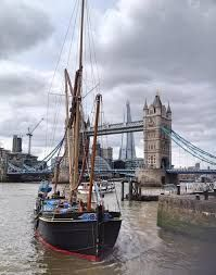 Sailing into St Katherine's Dock in London