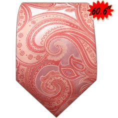 SL3 Long Size Tie Salmon Paisley Mens New Necktie Ties 100% Silk Jacquard WovenLong Size Tie