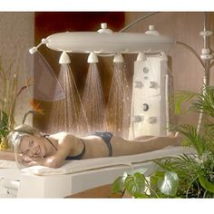 Ambiance Vichy Shower Package from Stas-Doyer Massage Room, Spa Massage, Holistic Massage, Home Technology, Cool Tech, Spa Treatments, Alternative Health, Amazing Bathrooms, Cool Gadgets