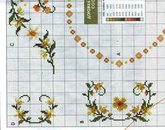 Geri Dönüşüm Projeleri Cross Stitch Borders, Cross Stitch Flowers, Cross Stitch Patterns, Table Linens, Needlepoint, Embroidery, Knitting, Crochet, Table Clothes