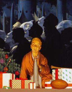 "Henry ""Rich"" Van Dongen  (b.1920) —   Christmas, 1954 (600×763)"