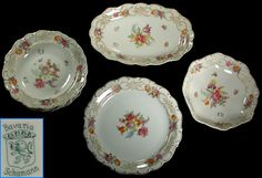 Bavaria Schumann Serving Set Dresden China, Antique China, China Patterns, China Porcelain, Bavaria, Decorative Plates, Antiques, Antiquities, Chinese Patterns