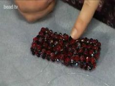 Make a stretchy Netted crystal Bracelet. ~ Seed Bead Tutorials