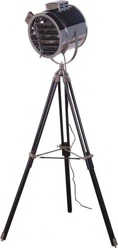 Steel Wood Tripod Floor Lamp Interior Design Interiors Aviation Decor Standard