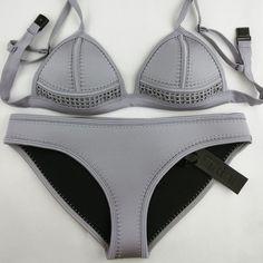 Women's Neoprene Solid Color Bikini