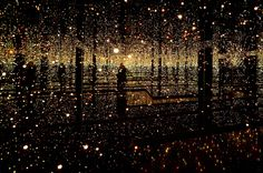 """""""Infinity Mirror Rooms ~ The Souls of Millions of Light Years Away"""" by Yayoi Kusama Infinity Mirror Room, Infinity Room, Infinity Spiegel, Gothic Pattern, Yayoi Kusama, Light Installation, Art Installations, Soyeon, Japanese Artists"""