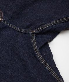 Nanamica 5 Pockets Denim Pants - gusset