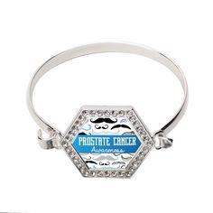 Prostate Cancer Awarenss Hexagon Bracelet   #inspiredsilver #prostate #awareness