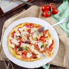 Nouveau concept : l'omelette-pizza !