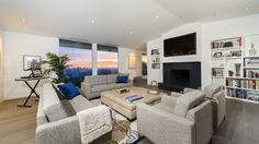 An open-plan living room.