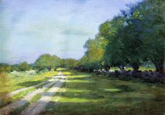 Sun Dappled Path 1895 Painting by Arthur Wesley Dow | Oil Painting