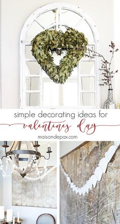 What beautiful, simple ideas for decorating for Valentine's Day: natural, neutral, calming, and lovely | maisondepax.com