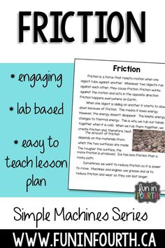 A hands-on exploratory approach to teaching friction to intermediate students.