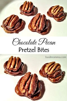 Chocolate Pecan Pretzel Bites - An easy holiday dessert that's perfect for gift giving.