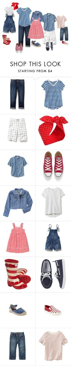 """Casual Cherry Pickers"" by clarkangiefrancis on Polyvore featuring Old Navy and Converse"