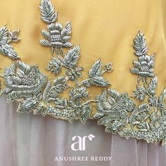 anushreereddyofficial: Dreamy details coming straight out of the Anushree Reddy headquarters for Spring Summer Zardosi Embroidery, Bead Embroidery Patterns, Embroidery Suits Design, Hand Work Embroidery, Couture Embroidery, Embroidery Fashion, Hand Embroidery Designs, Beaded Embroidery, Indian Embroidery